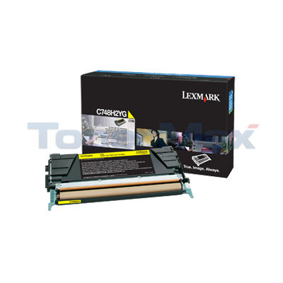 LEXMARK C748 TONER CARTRIDGE YELLOW HY